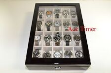 20 Watch (Premium Series) 1 Level Black Lacquer Display Storage Case Box + Gift