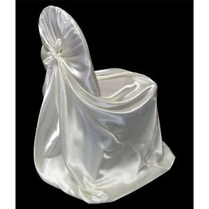 15 satin universal fit self tie bow chair covers wedding banquet