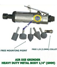 "AIR DIE GRINDER HEAVY DUTY METAL BODY 1/4"" (6MM) - 1/8''"