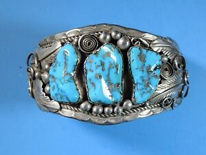 Image Is Loading Vintage Native American Navajo Signed N Sterling Silver