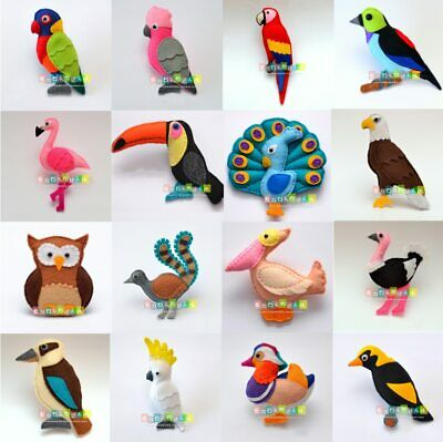 Sewing Kit DIY Forest Birds Parrots Fabric Felt Non-woven Cloth Craft DIY