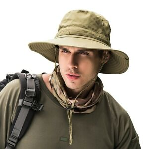 Bucket-Hat-Boonie-Hunting-Fishing-Outdoor-Wide-Brim-Safari-Camo-Sun-Cap-Unisex