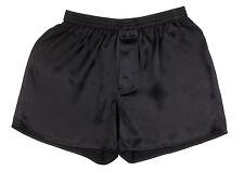 SEXY 100% Charmeuse SILK Mens Boxer Shorts XL 36-38 (Black)