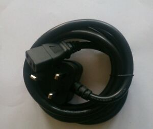 2m Power Cord UK Plug to HOT IEC Cable Kettle Lead C15 2m - WOLVERHAMPTON, West Midlands, United Kingdom - 2m Power Cord UK Plug to HOT IEC Cable Kettle Lead C15 2m - WOLVERHAMPTON, West Midlands, United Kingdom