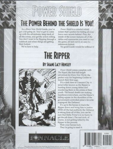 BRAVE NEW WORLD-POWER SHIELD-THE RIPPER-Adventure-GAME MASTER SCREEN-RPG-new