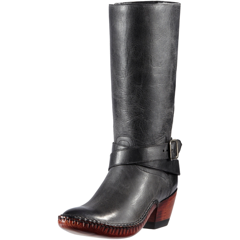 New Ladies Ariat 10012083 Rising Sun 350 Smoky Black Leather Cowboy Boot