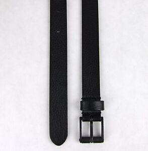 8e79f5e96 New Authentic GUCCI Mens Black Thin Leather Belt w/Square Buckle ...