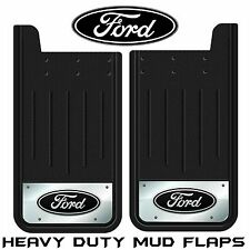 2 PC FORD REAR TRUCK MUD GUARDS 12x23 BLACK SPLASH GUARDS FLAPS FORD LOGO SUV