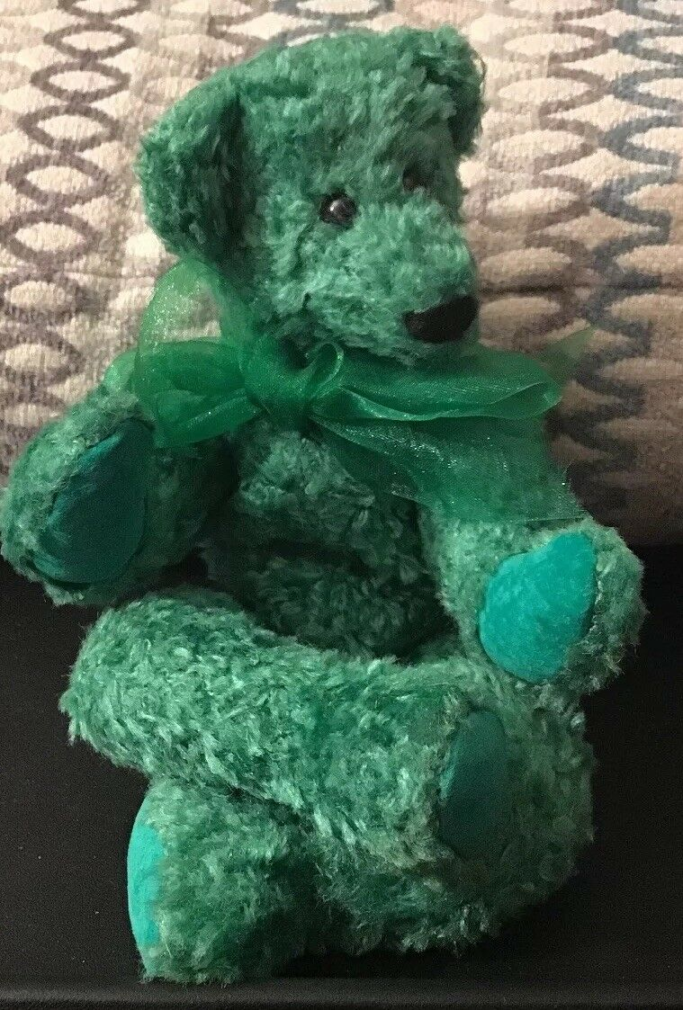 'Canterbury Bears' Grün Jelly Bean Teddy Bear Moving Joints Suede Pads 23cm