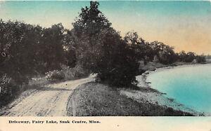 SAUK-CENTER-MN-1907-13-Driveway-Along-Fairy-Lake-VINTAGE-MINNESOTA-LAKE-rl459