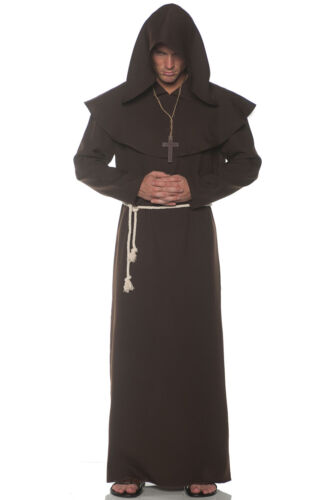 Brown Brand New Religious Monk Robes Adult Costume