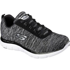 30311378d01c Skechers Sport Women s Flex Appeal 2.0 Fashion Sneaker Black White ...