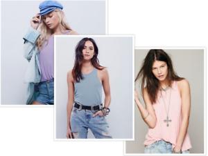 Blue Purple S $60 New Free People Womens La Nite Tank Top 3 Combo Pack Pink