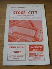 09/01/1965 Stoke City v Blackpool  (Slight Crease & Rusty Staples). No obvious f