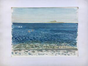 Impressionist-Karl-Adser-1912-1995-Coast-with-Seevogeln-Seagulls-Sea-Beach