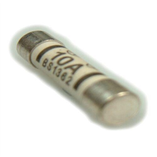 Confezione di 4 FUSIBILI LYVIA 10a Bs1362-Dencon 1010stv PLUG CABLAGGIO ELETTRICO