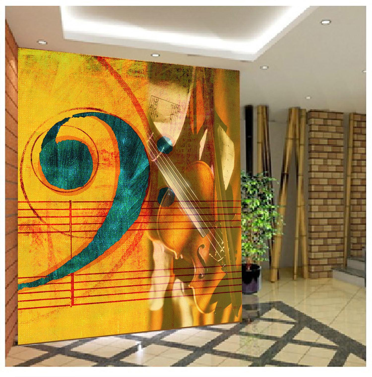 3D Modisches Musikspektrum 86 Tapete Wandgemälde Tapete Tapeten Bild Familie DE