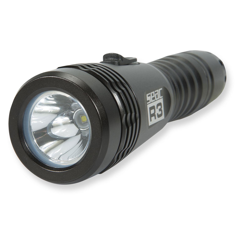Seac Tauchlampe R3 - 400 Lumen bis 100 Meter wasserdicht mit Sicherheitsglas