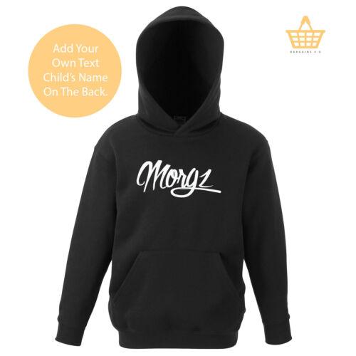 Kids Team Morgz Youtuber Hoodie Pullover Gaming Gamer 10 Mil MGZ Boy Girls Top