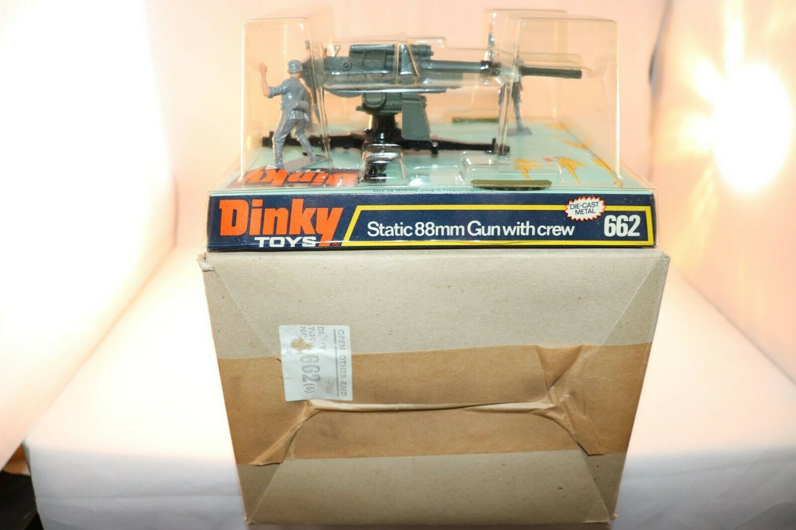 Dinky giocattoli 662 Static 88mm Gun with crew Perfect mint in scatola AMAZING