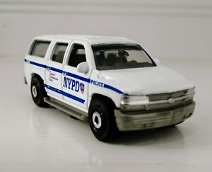 Matchbox 2000 Chevrolet Suburban Nypd Police White Loose Very