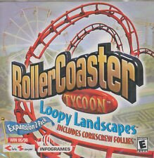 RollerCoaster Tycoon: Loopy Landscapes Jewel Case (PC, 2003)