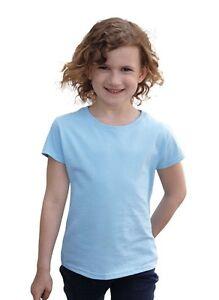 FRUIT-OF-THE-LOOM-T-Shirt-Girls-Value-Weight-T-kids-kinder-NEU