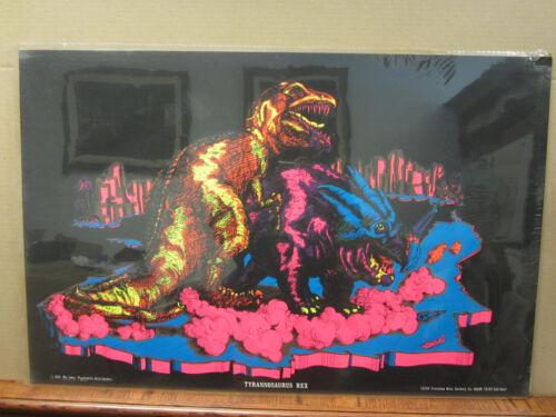 Vintage Tyrannosaurus Rex blacklight 1971 poster  3611