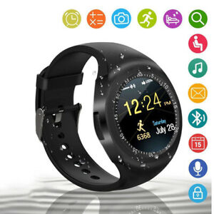Details about Waterproof Y1 SmartWatch Bluetooth with Camera/SIM Card Slot  For Android iPhone