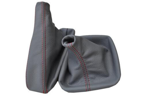 Red stitch fits bmw série 3 e46 Gear Frein à Main Guêtres en cuir gris 98-06