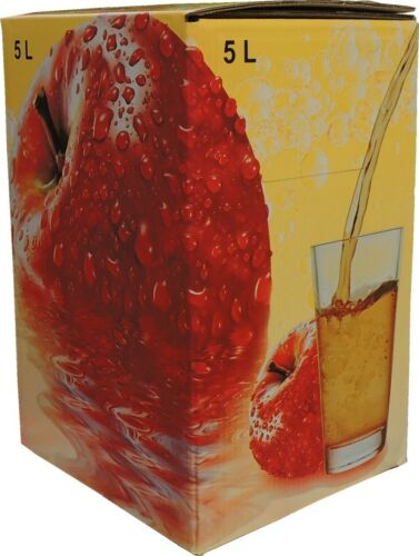 1,01€//1Stk 75Stück 5 Liter Bag in Box Karton in Apfel