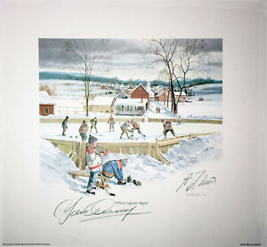 Lithograph-Signed-By-Guy-Lafleur-Yvan-Cournoyer-Montreal-Canadiens