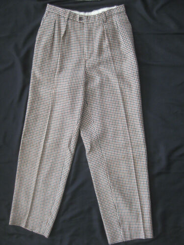 1980s KENZO Paris Wool HOUNDSTOOTH PLAID Pleat Fr… - image 1