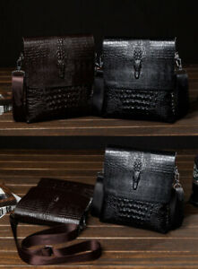 Mens-Shoulder-Bag-Briefcase-Leather-Crossbody-Bags-Satchel-Messenger-Bag-Handbag