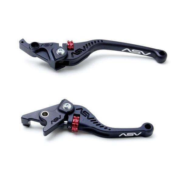 Asv C5 Schwarz Shorty Brems+Kupplungshebel Kit KTM 690 Supermoto R   Smc 08 09