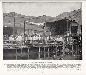 1897-Vittoriano-Stampa-Singapore-Un-Cinese-Teatro-Audience-Su-Pier