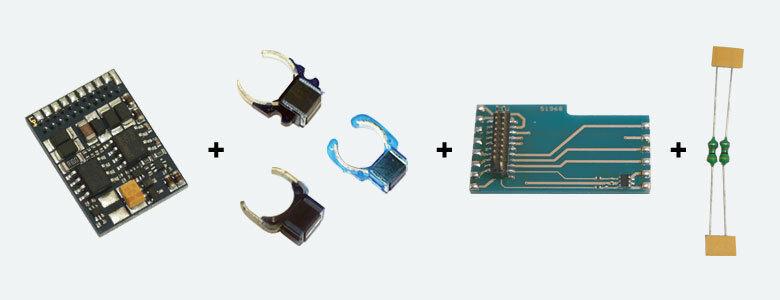 +++ ESU 64635 LokPilot Digitalset 21MTC, LokPilot V4.0 M4 64614 (MM DCC SX M4),