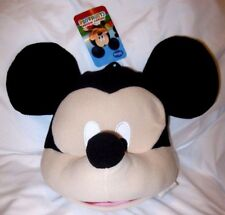 "Disney Mickey Mouse Large 10"" Plush Head Costume Bag-Brand New with Tags!"