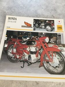 Honda-250-Sa-und-Me-1956-Karte-Sammlung-Motorrad-Atlas-Japan