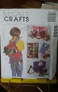 Oop-Mccalls-Crafts-9050-bean-bag-babies-organizers-wall-tote-backpack-NEW