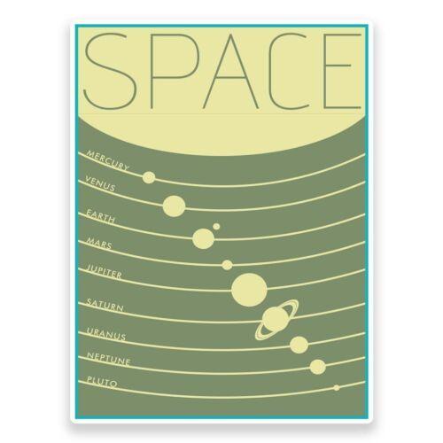 2 X Espacio Planetas Pegatina de vinilo coche viaje equipaje #9311