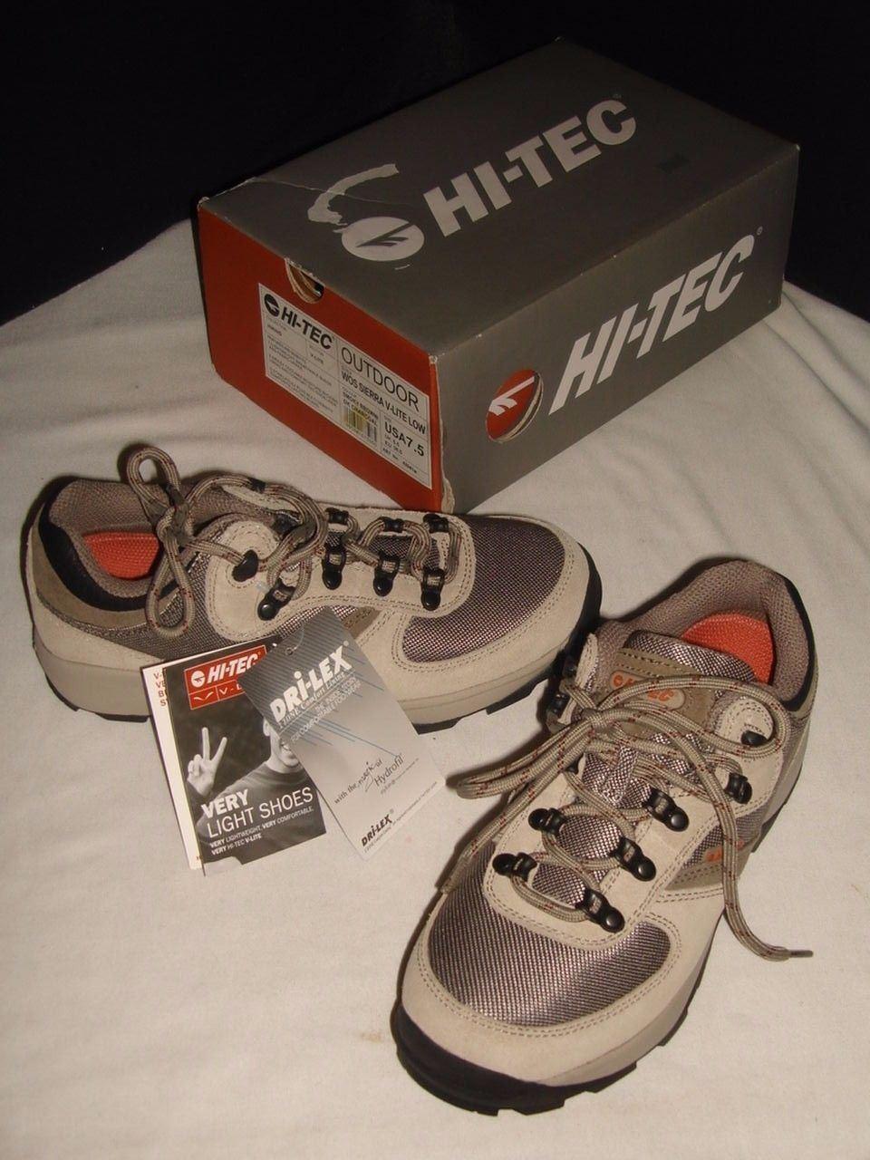 NWB LADIES HI-TEC WOS SIERRA V-LITE W/DRI-LEX GRAY HIKING Schuhe SZ. 7.5