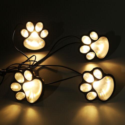 16x Solar Paw Lights Outdoor Garden Lantern Landscape Path Stake Lights LED Lamp