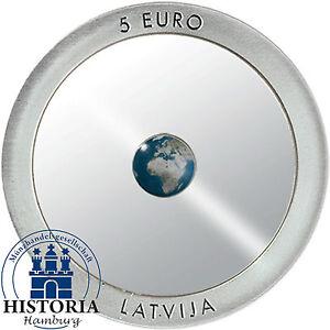 Lettland 5 Euro Blauer Planet Erde 2016 Pp Innovative Münze Silber