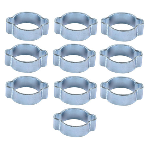 10X 23mm-27mm DOUBLE EAR /'O/' CLIPS Fuel /& Air Water Silicone Hose Pipe Clamp