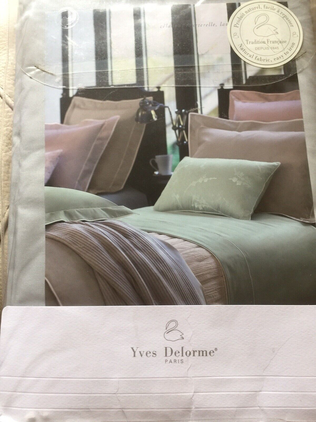YVES DELORME SERENITY TOUTERE PERCALE DUVET COVER  SINGLE