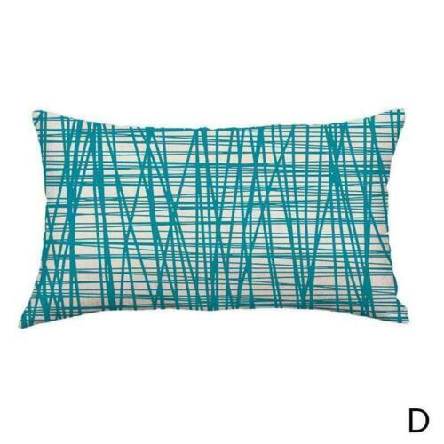 Home Decor Soft Cotton Linen Pillow Cases Geometric Throw Cover Cushion I7T6