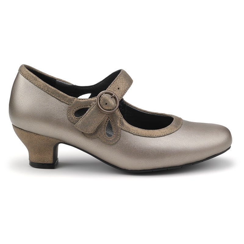 Hotter Valetta Heels- Pale Bronze Metallic UK 7 EU 41 STD Fit JS44 32