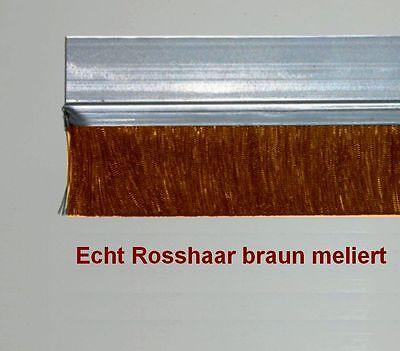 5x 2m Leistenbürste ALU-Wechsel-Profil Echt Rosshaar 25 mm hoch Bürstenleiste