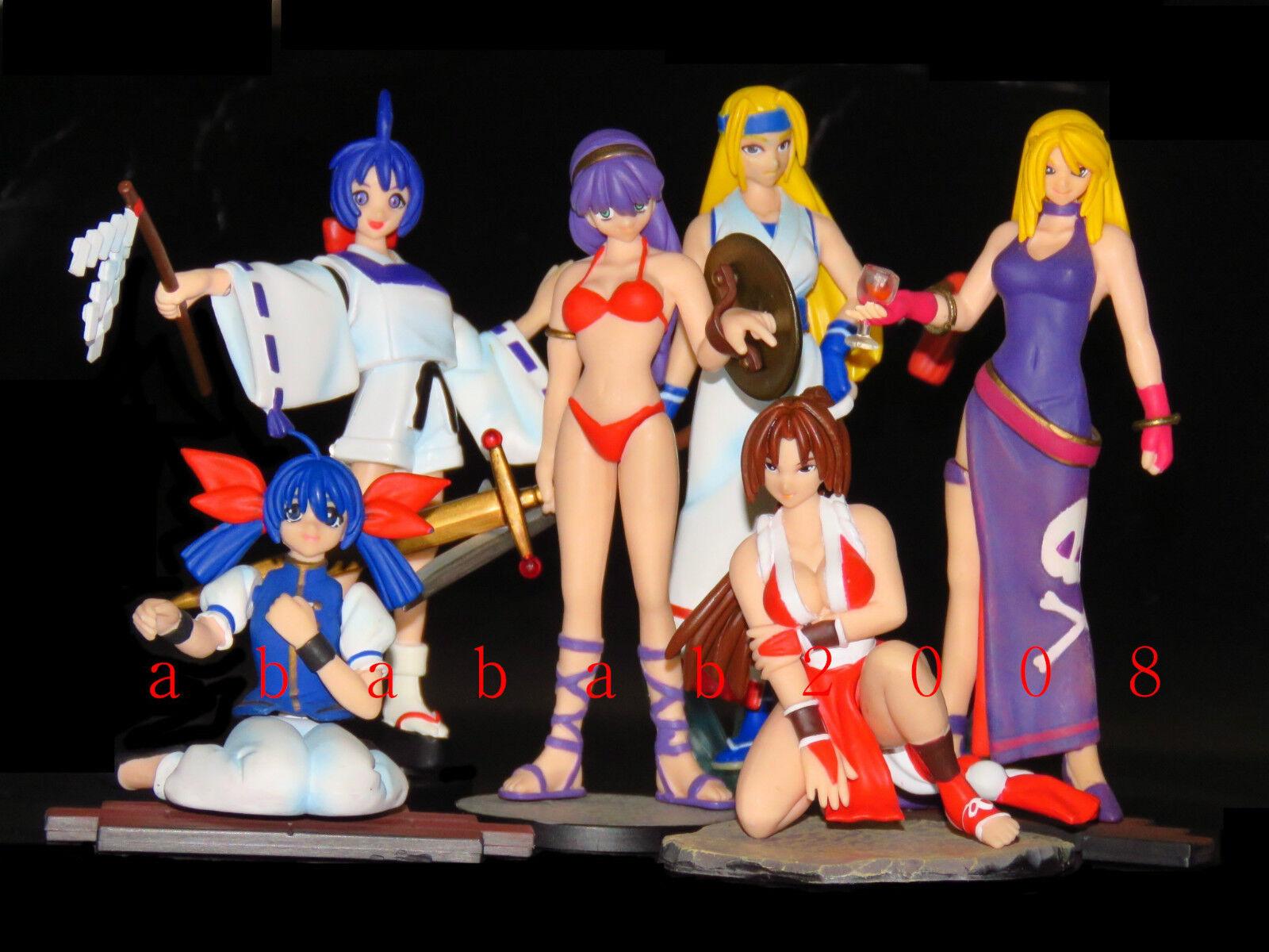 Yujin SR SR SR SNK KOF Fatal Fury Gals 2 gashapon figure set (full set of 6 figures) c7b843